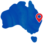 australia map with pinpoint