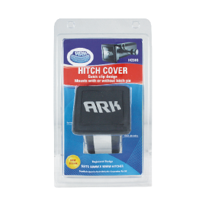 black Removable Hitch Receiver Cover carton