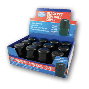 black pvc tow ball cover