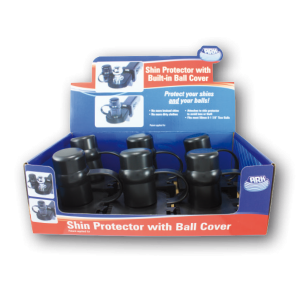 shin protector with built-in ball cover display box