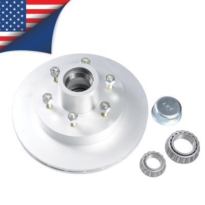 ventilated disc rotor with usa flag at the top left corner